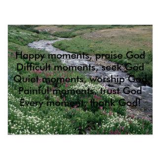 , Moments heureux, momen de GodDifficult d'éloge… Carte Postale