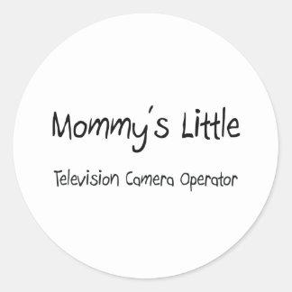 Mommys peu d opérateur de caméra de télévision autocollants