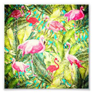 Mon Aloha jardin de flamant d'oiseau de jungle Tirage Photo
