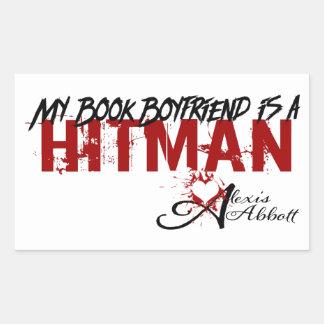 Mon ami de livre est un Hitman Sticker Rectangulaire