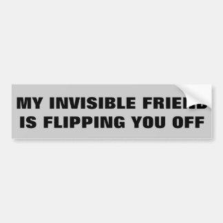 Mon ami invisible vous renverse autocollant de voiture
