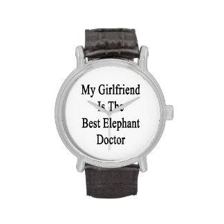 Mon amie est le meilleur docteur d'éléphant montres cadran