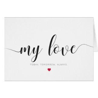 Mon amour, carte de jour de valentines