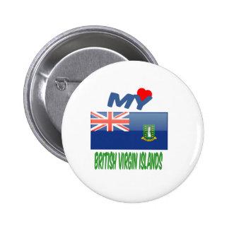 Mon amour Îles Vierges britanniques Pin's Avec Agrafe