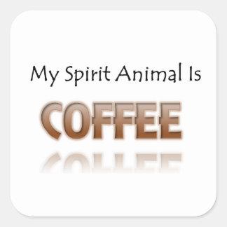 Mon animal d'esprit est café sticker carré