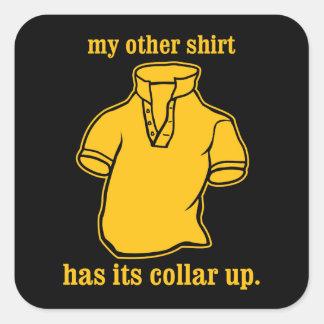 mon autre chemise a son collier sauté de collier stickers carrés
