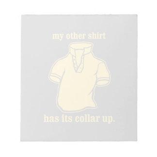 mon autre chemise a son collier sauté de collier blocs-notes