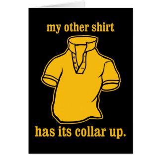 mon autre chemise a son collier sauté de collier carte de vœux