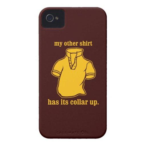 mon autre chemise a son collier sauté de collier étuis iPhone 4