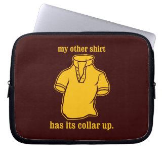 mon autre chemise a son collier sauté de collier housse pour ordinateur portable