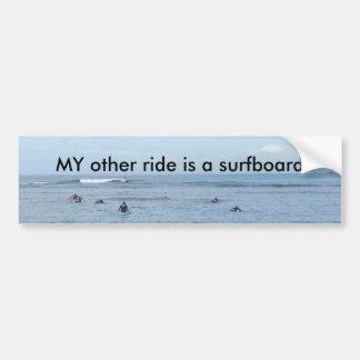 MON autre tour est une planche de surf Autocollant Pour Voiture
