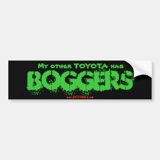 Mon autre TOYOTA a, BOGGERS, www.FATTSHACK.com Autocollant De Voiture