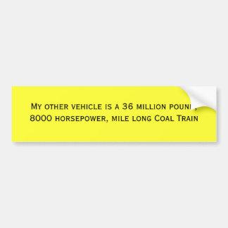 Mon autre véhicule est 36 millions de livre, 8000  autocollant pour voiture