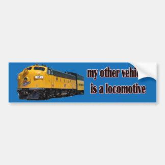 Mon autre véhicule est CNW locomotif Autocollant De Voiture