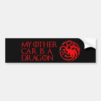 Mon autre voiture est un dragon autocollant de voiture