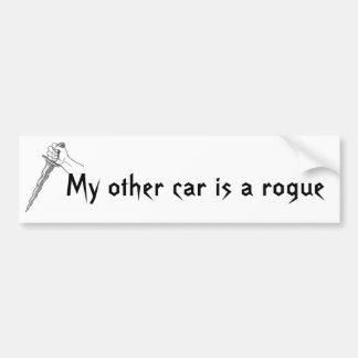 Mon autre voiture est un escroc autocollant de voiture
