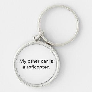 Mon autre voiture est un porte - clé de roflcopter porte-clé rond argenté