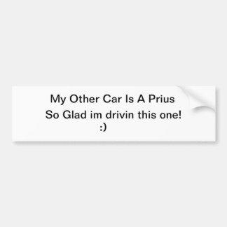 Mon autre voiture est un Prius Autocollant De Voiture