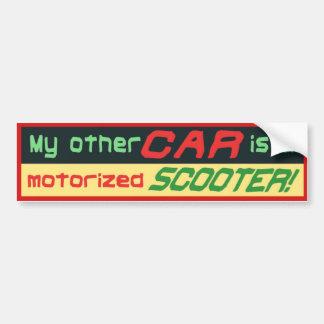 Mon autre voiture est un SCOOTER motorisé ! Autocollant De Voiture