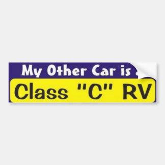 """Mon autre voiture est une classe """"C"""" rv Autocollant De Voiture"""