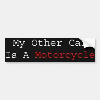Mon autre voiture est une moto autocollant pour voiture