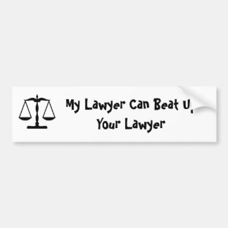Mon avocat peut battre votre avocat autocollant de voiture