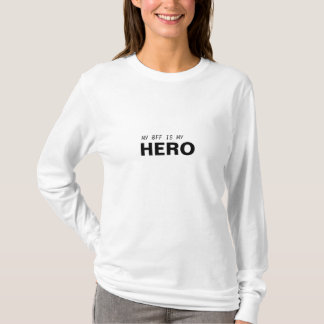 MON BFF EST MON SURVIVANT DE CANCER DE HERO/BREAST T-SHIRT