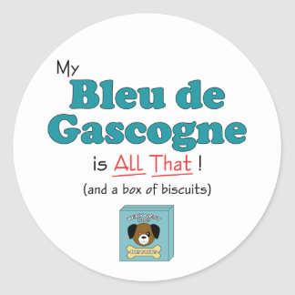 Mon Bleu de Gascogne est tout cela ! Adhésif Rond
