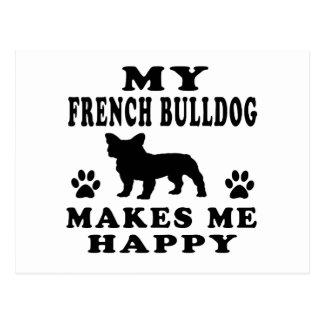 Mon bouledogue français me rend heureux carte postale