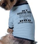 Mon caniche miniature pas simplement un chien manteau pour animal domestique