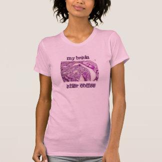 Mon cerveau après café - le rose de la femme t-shirts