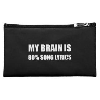 Mon cerveau est des textes de chanson de 80 pour pochette make-up