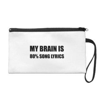 Mon cerveau est des textes de chanson de 80 pour pochettes avec dragonne