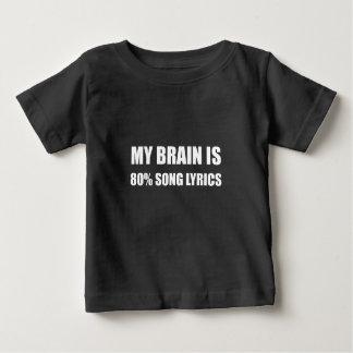 Mon cerveau est des textes de chanson de 80 pour t-shirt pour bébé