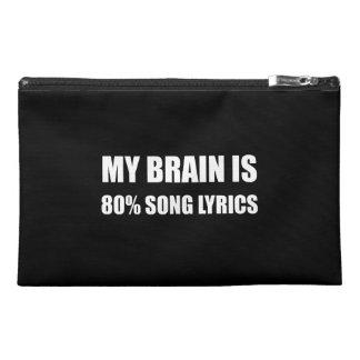 Mon cerveau est des textes de chanson de 80 pour trousses à accessoires de voyage