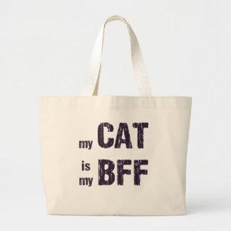 Mon chat est mon BFF Grand Sac