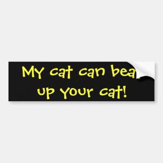 Mon chat peut battre votre chat ! autocollant pour voiture