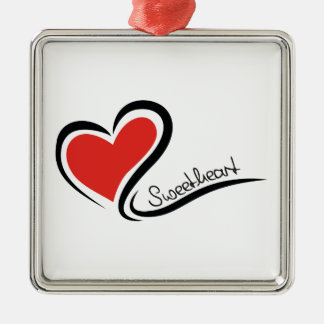 Mon chéri Valentine Ornement Carré Argenté