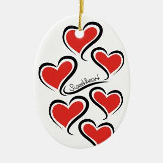 Mon chéri Valentine Ornement Ovale En Céramique