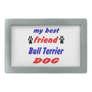 Mon chien de bull-terrier de meilleur ami boucle de ceinture rectangulaire