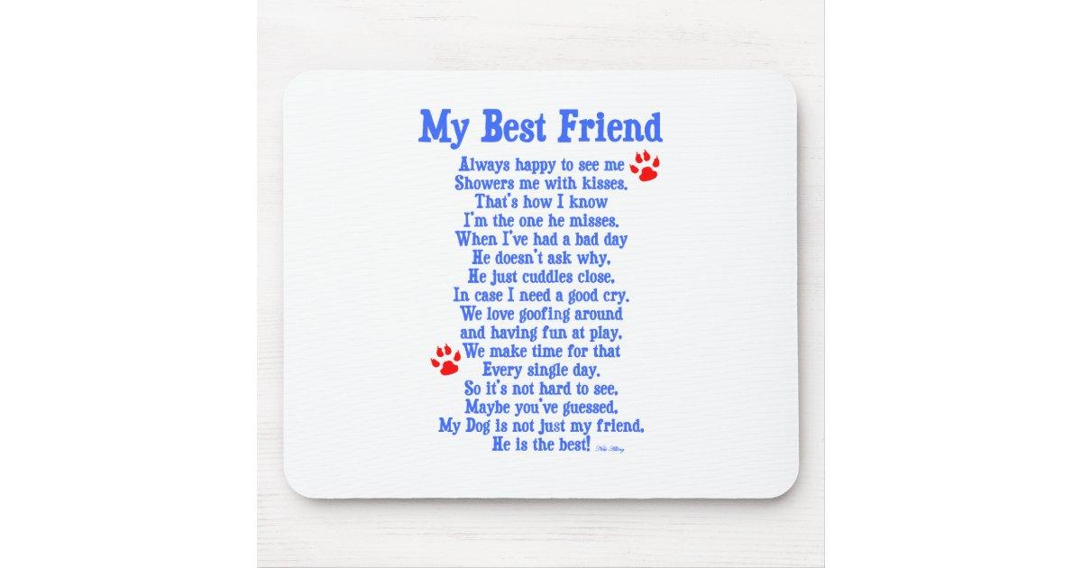 Mon chien de meilleur ami tapis de souris zazzle for Surface minimum bureau code du travail