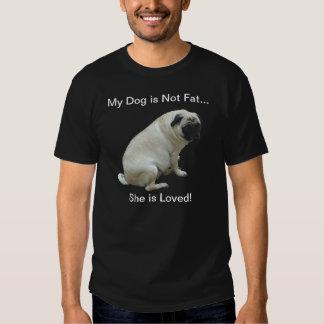Mon chien n'est pas gros carlin t-shirts