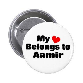 Mon coeur appartient à Aamir Badge Avec Épingle
