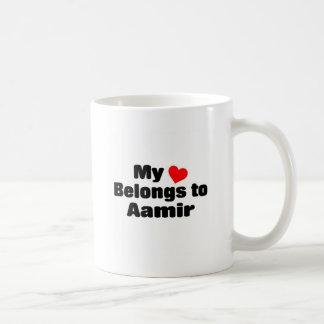 Mon coeur appartient à Aamir Mug À Café