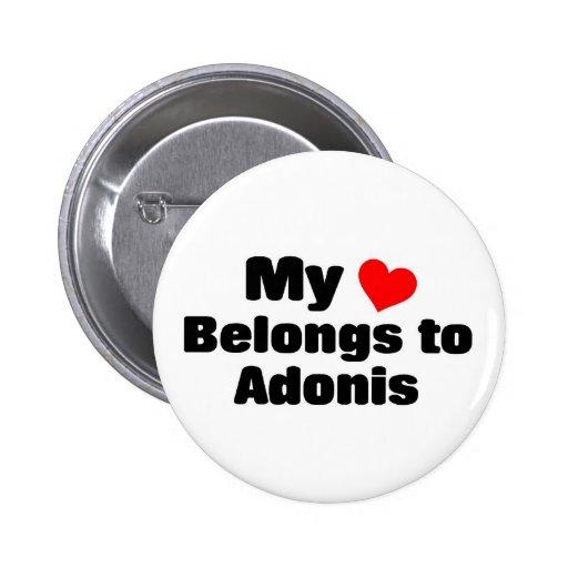Mon coeur appartient à Adonis Pin's