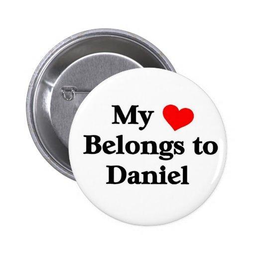 Mon coeur appartient à Daniel Badges Avec Agrafe