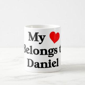 Mon coeur appartient à Daniel Mug Blanc