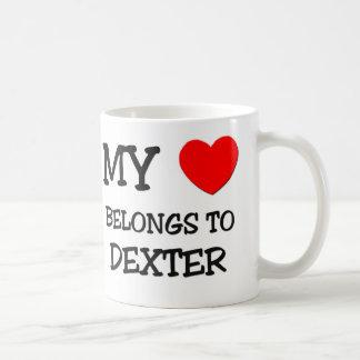 Mon coeur appartient à Dexter Mugs À Café