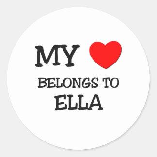 Mon coeur appartient à ELLA Sticker Rond