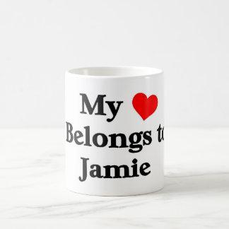 Mon coeur appartient à jamie mug blanc